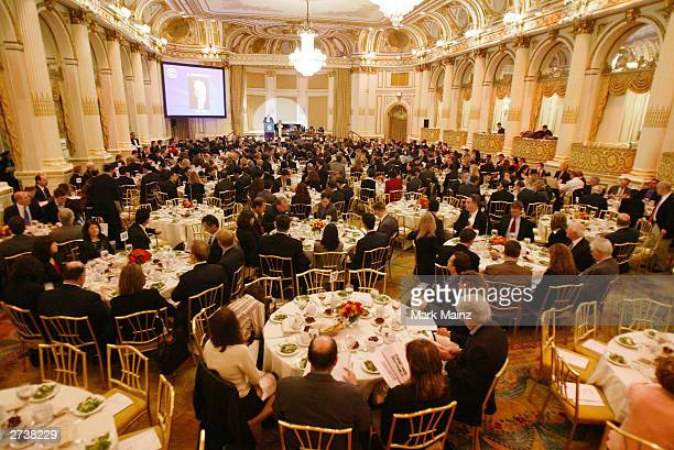 General view of The Centre for Communication Luncheon Honoring News Corp's President & CEO Peter Chernin at the Plaza Hotel November 17, 2003 in New...