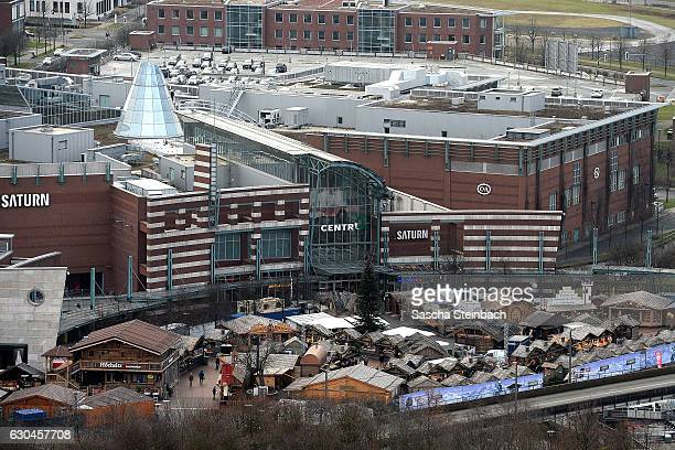 A general view of the Centro shopping mall on December 23 2016 in Oberhausen Germany Authorities announced earlier today that they have arrested two...