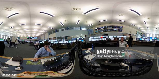 A general view of the CERN Control Centre or CCC dedicated to the Large Hadron Collider the Super Proton Synchrotron the Proton Synchrotron Complex...