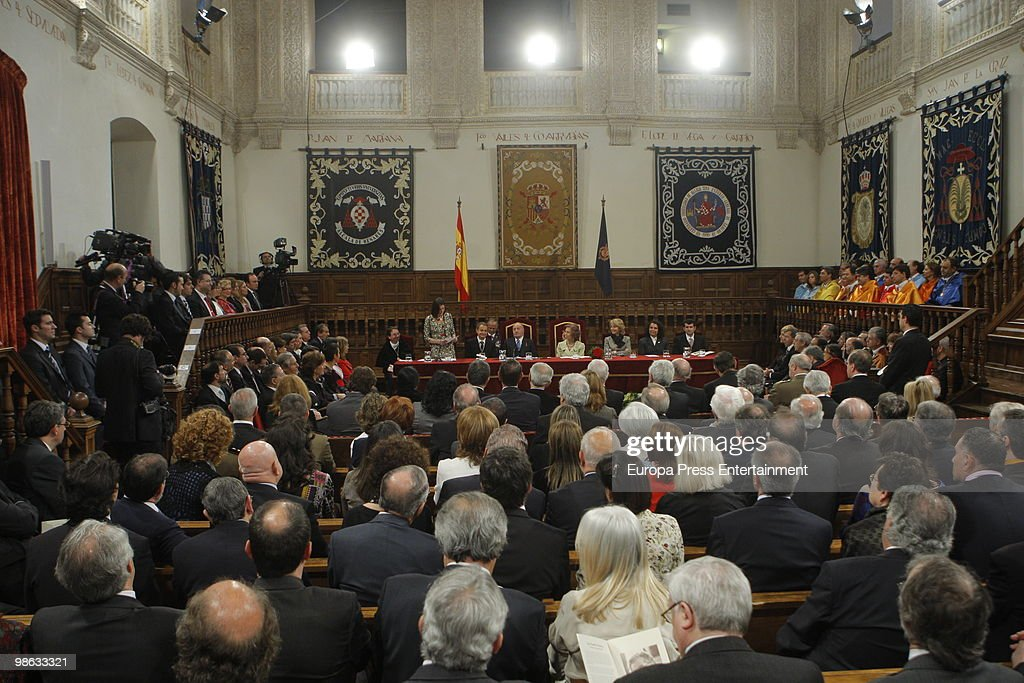 A general view of the Cervantes Prize ceremony at Alcala de Henares University held to award Mexican novelist Jose Emilio Pacheco Berny with the 2009 Miguel de Cervantes Prize on April 23, 2010 in Madrid, Spain. The 'Miguel Cervantes Award' is considered the most important award in Spanish literature.