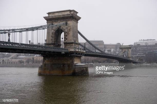 A general view of the Chain Bridge over the Danube river in Budapest