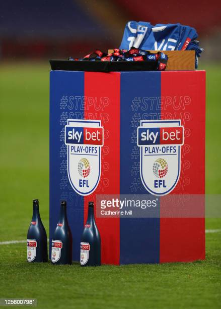 General view of the champagne and winners medals after the Sky Bet League One Play Off Final between Oxford United and Wycombe Wanderers at Wembley...