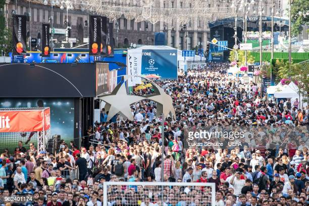 General view of the Champions Festival during the Ultimate Champions Tournament ahead of the UEFA Champions League final between Real Madrid and...
