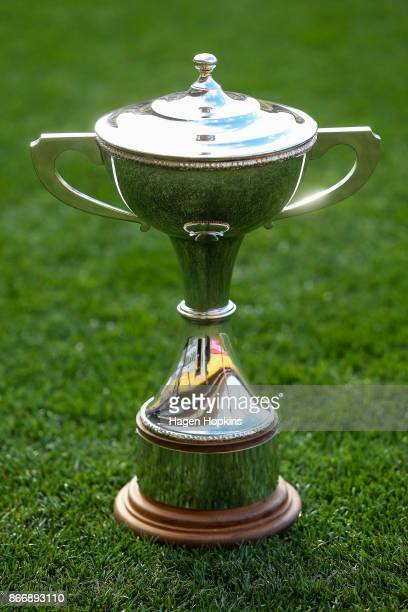 General view of the Championship Cup during the Mitre 10 Cup Championship Final match between Wellington and Bay of Plenty at Westpac Stadium on...