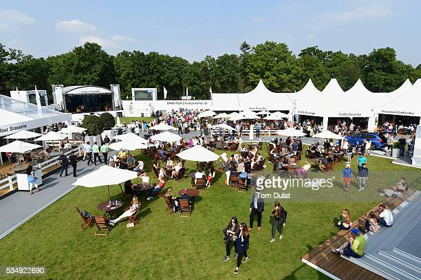 A general view of the Championship Village during day three of the BMW PGA Championship at Wentworth on May 28 2016 in Virginia Water England