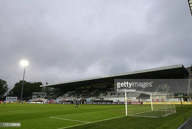 General view of the Chance Arena, home of FK Jablonec taken during the Czech First League match between FK Jablonec and SK Sigma Olomouc held on May...