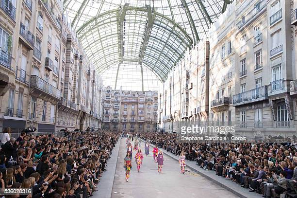 General View of the Chanel show at the Grand Palais as part of the Paris Fashion Week Womenswear Spring/Summer 2015 on September 30 2014 in Paris...