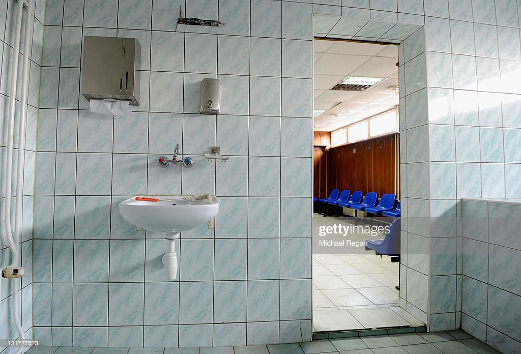 A general view of the changing facilities at the Hutnik Municipality Stadium where the England football team will train during the Euro 2012 on November 7, 2011 in Krakow, Poland.