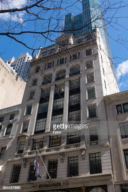 General view of the Charles Scribner's Sons building at 597 5th Avenue New York, the building is listed on the website of data firm Cambridge...
