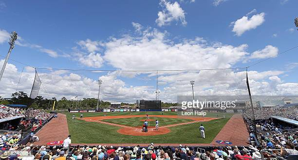 General view of the Charlotte Sports Park during the Spring Training Game between the Boston Red Sox and the Tampa Bay Rays on March 30, 2016 at the...