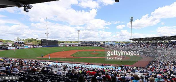 A general view of the Charlotte Sports Park during the Spring Training Game between the Boston Red Sox and the Tampa Bay Rays on March 30 2016 at the...
