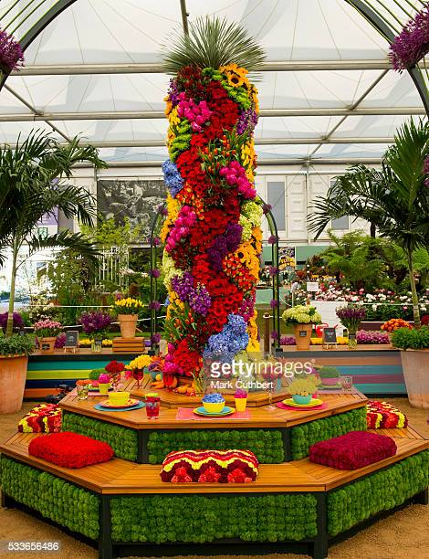 A general view of the Chelsea Flower Show during the press day at Royal Hospital Chelsea on May 23 2016 in London England The show which has run...