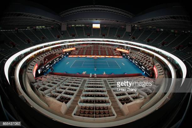 A general view of the China National Tennis Centre during the preview day of the 2017 China Open at the on September 29 2017 in Beijing China