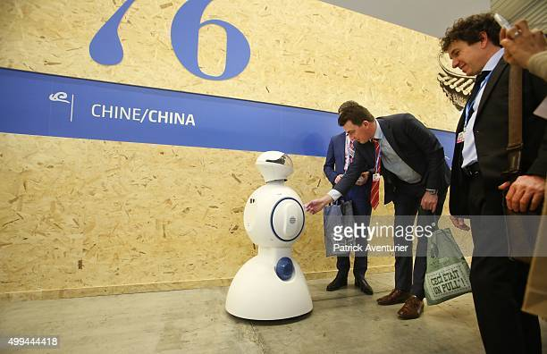 A general view of the Chinese pavillon at COP21 on December 1 2015 in Paris FranceThe COP21 summit will see negotiators from 195 countries try to...