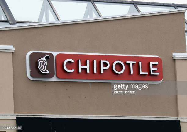 A general view of the Chipotle sign as photographed on March 20 2020 in Carle Place New York