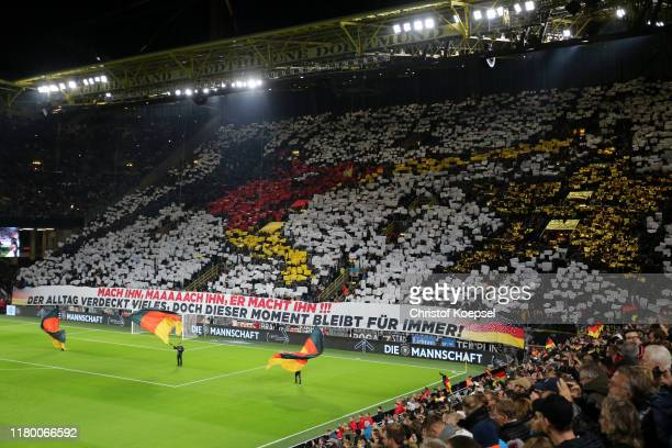 A general view of the choreography prior to the International Friendly between Germany and Argentina at Signal Iduna Park on October 09 2019 in...