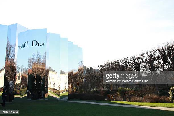 General view of the Christian Dior Haute Couture Spring Summer 2016 show as part of Paris Fashion Week on January 25 2016 in Paris France