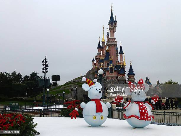 a general view of the christmas decorations at disneyland paris on november 13 2012 in paris