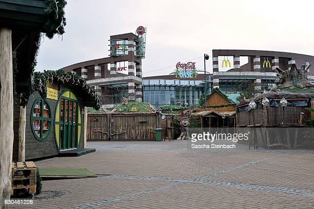 A general view of the christmas market at Centro shopping mall on December 23 2016 in Oberhausen Germany Authorities announced earlier today that...