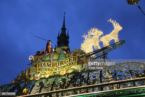 A general view of the Christmas Market on December 12 2017 in Hamburg Germany