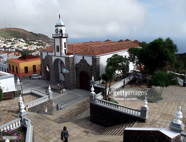 A general view of the church in Valverde on El Hierro Island January 13 2010 in El Hierro Island Spain The island inspired and features in the new...