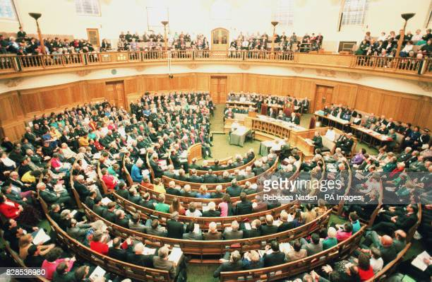 A general view of the Church of England General Synod on the day they were voting on the ordination of women priests