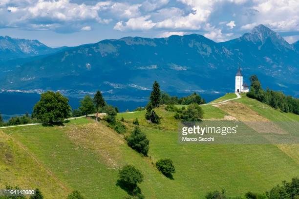a general view of the church of saint primoz - marco secchi stock photos and pictures