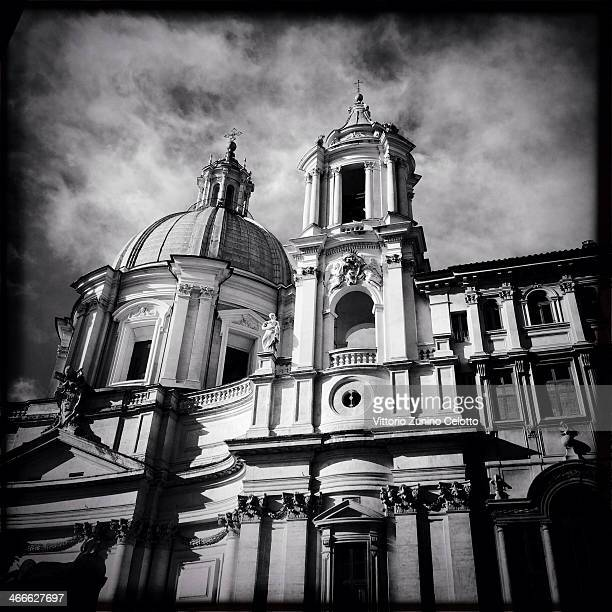 A general view of the Church of Sant'Agnese in Agone on January 26 2014 in Rome Italy