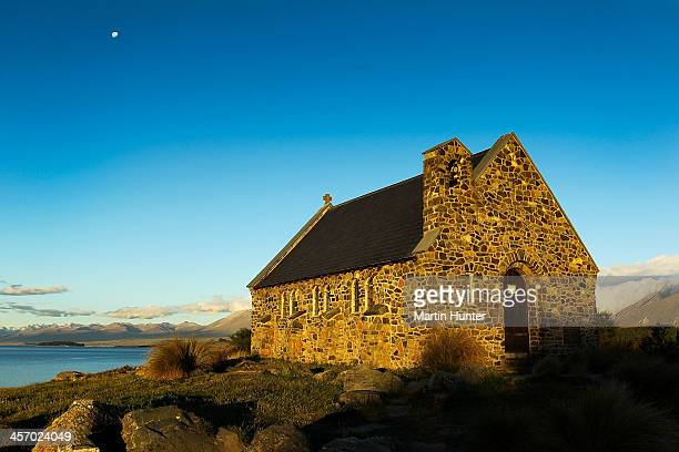 A general view of the Church of the Good Shepherd in Lake Tekapo is seen on December 16 2013 in Otago Harbour New Zealand This was the first church...