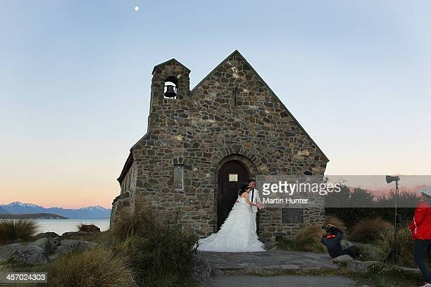 A general view of the Church of the Good Shepherd in Lake Tekapo is seen on December 16 2013 in Central Otago New Zealand This was the first church...
