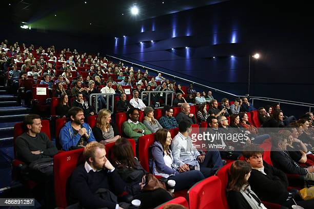 General view of the cinema theatre after the 'Hits' screening during the Sundance London Film and Music Festival 2014 at 02 Arena on April 26, 2014...