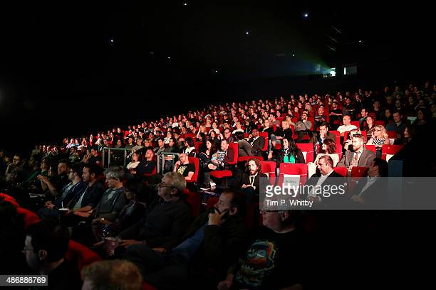 General view of the cinema theatre ahead of 'The Voices' screening during the Sundance London Film and Music Festival 2014 at 02 Arena on April 26...