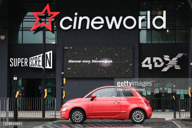 A general view of the Cineworld cinema on October 4 2020 in Cardiff Wales The cinema is drawing up plans to close all 128 of its cinemas putting 5500...