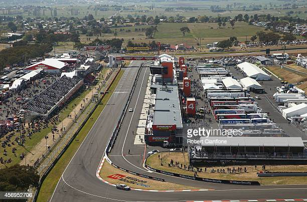 A general view of the circuit during practice for the Bathurst 1000 which is round 11 of the V8 Supercars Championship Series at Mount Panorama on...