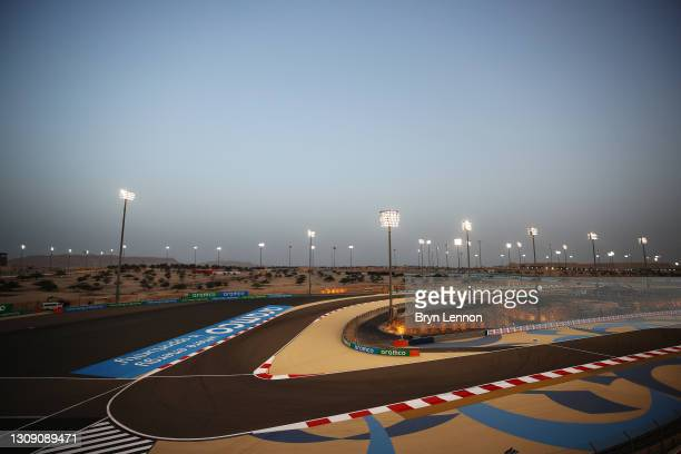 General view of the circuit during previews ahead of Round 1:Sakhir of the Formula 2 Championship at Bahrain International Circuit on March 25, 2021...