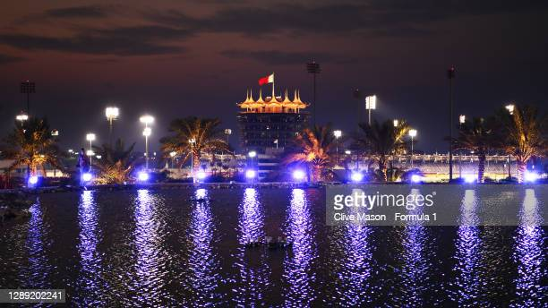 General view of the circuit during previews ahead of the F1 Grand Prix of Sakhir at Bahrain International Circuit on December 03, 2020 in Bahrain,...