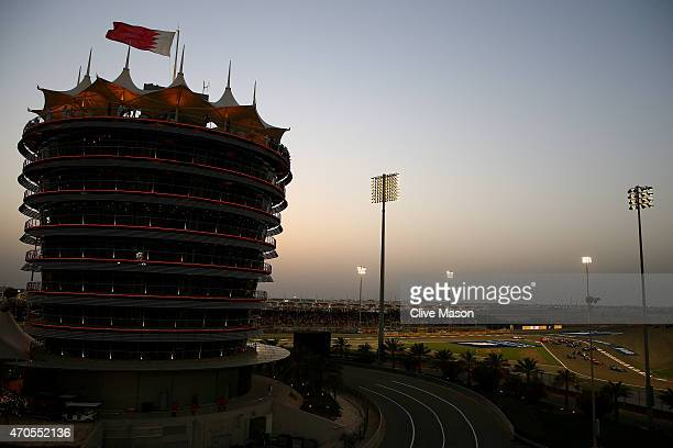 A general view of the circuit during the Bahrain Formula One Grand Prix at Bahrain International Circuit on April 19 2015 in Bahrain Bahrain