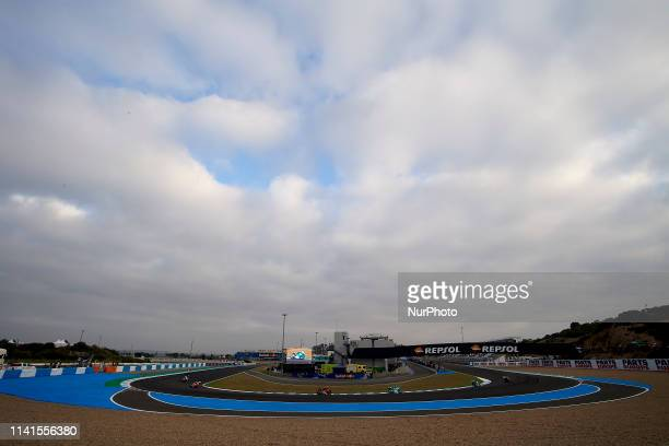 """General view of the circuit from the last corner """"Jorge Lorenzo turn"""" during the Red Bull GP of Spain at Circuito de Jerez Angel Nieto on..."""
