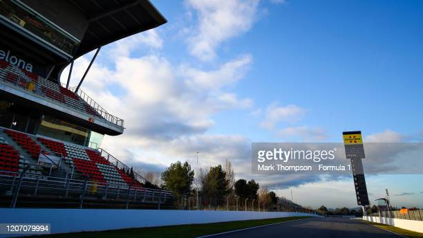 A general view of the circuit is pictured before Formula 1 Winter Testing at Circuit de BarcelonaCatalunya on February 18 2020 in Barcelona Spain