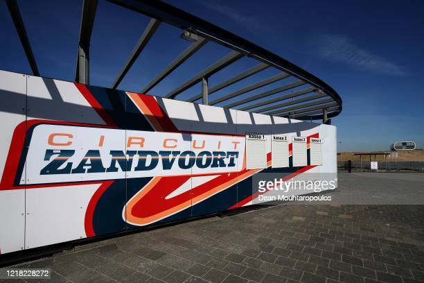 General view of the Circuit Zandvoort track which would have held the Dutch GP F1 or Formula One race is pictured closed along with national policy...