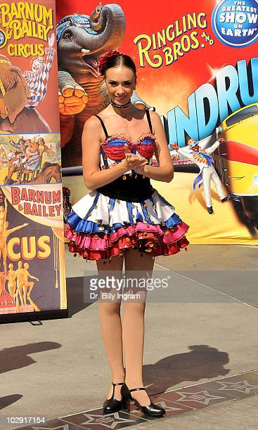 A general view of the Circus Founder PT Barnum's Star Dedication Ceremony at Nokia Plaza LA LIVE on July 15 2010 in Los Angeles California