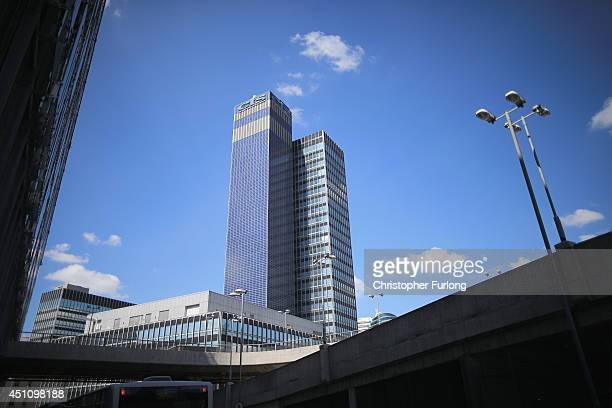 General view of the CIS Tower which houses the Co-operative Insurance Society in the City of Manchester, on June 23, 2014 in Manchester, England....