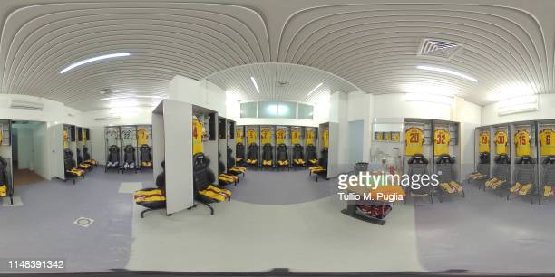 A general view of the Cittadella dressing room before the Serie B match between US Citta di Palermo and AS Cittadella at Stadio Renzo Barbera on May...