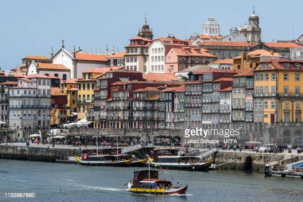 General view of the city center of Porto ahead of the Nations League Semi-Finals at Estadio do Dragao on June 03, 2019 in Porto, Portugal.