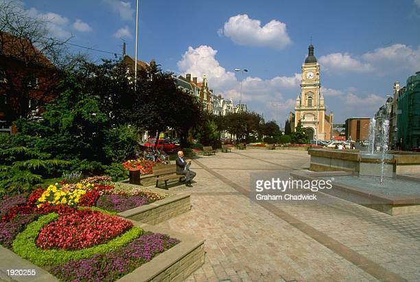 General view of the City Centre of Lens in France France is the venue for the 1998 World Cup Mandatory Credit Graham Chadwick/Allsport