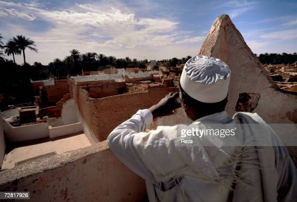 A general view of the city from the rooftops April 2000 in Ghadames Libya