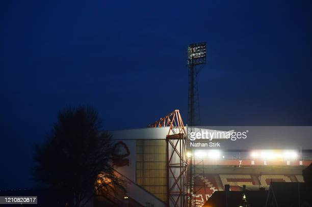 General view of the City Ground before the Sky Bet Championship match between Nottingham Forest and Millwall at City Ground on March 06, 2020 in...
