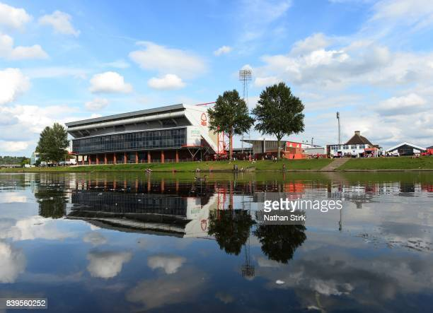 General view of the City Ground before the Sky Bet Championship match between Nottingham Forest and Leeds United at City Ground on August 26 2017 in...