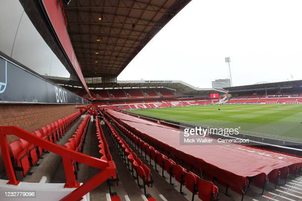 General view of The City Ground home of Nottingham Forest during the Sky Bet Championship match between Nottingham Forest and Preston North End at...