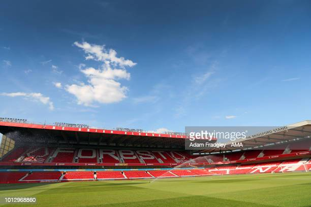 A general view of The City Ground home stadium of Nottingham Forest during the Sky Bet Championship match between Nottingham Forest v West Bromwich...